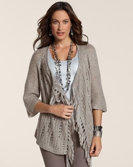 Sequin Fringe Cardigan