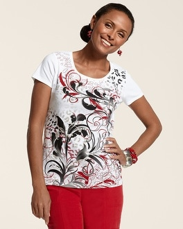Zenergy Sadie Multi-Color Print Tee