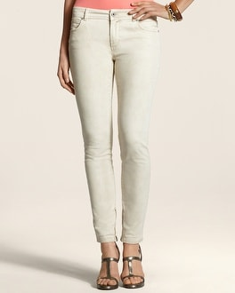 Platinum Denim Peyote Zip-Ankle Jean