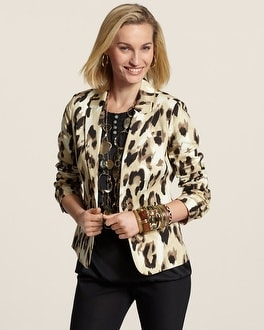 Neutral Animal Blazer