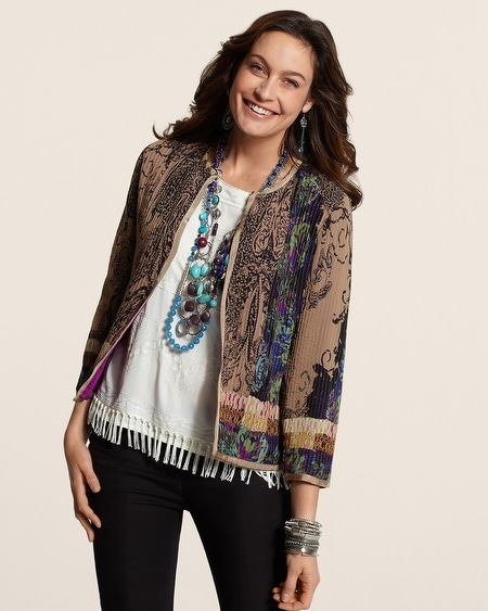 Pleated Paisley Jacket