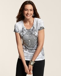 Zenergy Christina Studded Medallion Tee