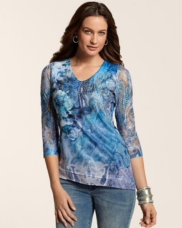 Quite Dreamy Blues Asymetrical Top