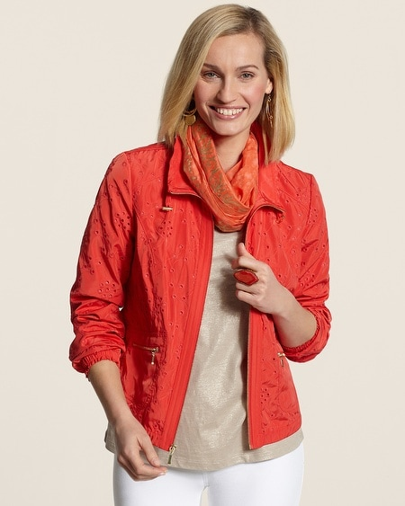 Amelia All-Over Eyelet Jacket