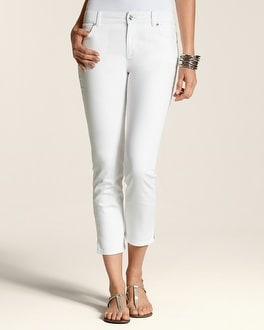 Platinum Denim White Sparkle Crop