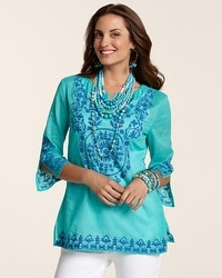 Embroidered Blues Aja Top