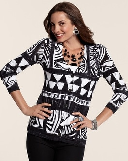Bold Abstract Bree Cardigan