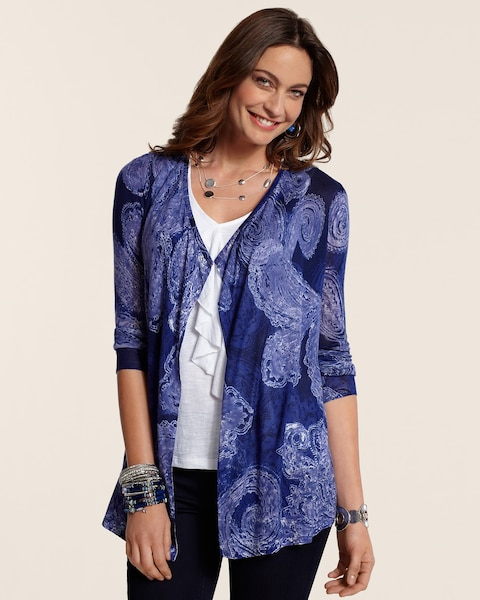 Royal Paisley Roslyn Cardigan