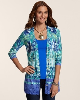 Graphic Paisley Gentry Cardigan