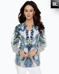 Black Label Printed Tunic