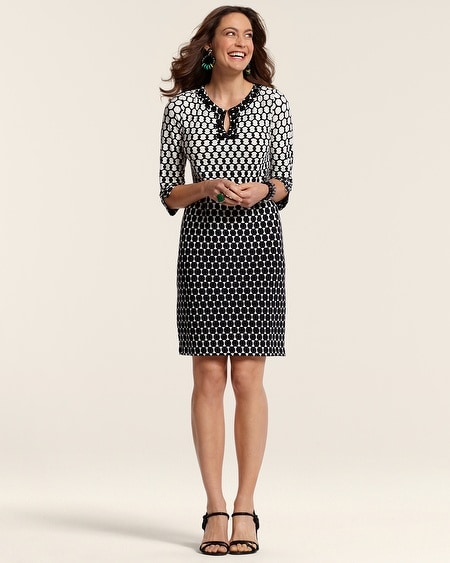 Dylan Embellished Dot Dress