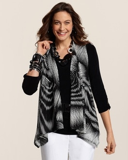 Travelers Collection Swirl Mesh Vest