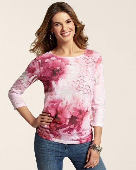 Circle Scribe Ruched Raye Top