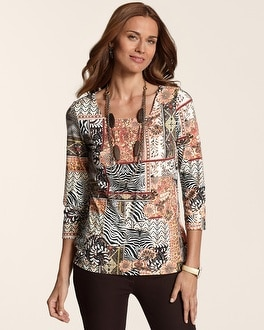 Spliced Safari Sara Top