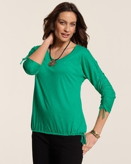 Ruched Sleeve Rena Top