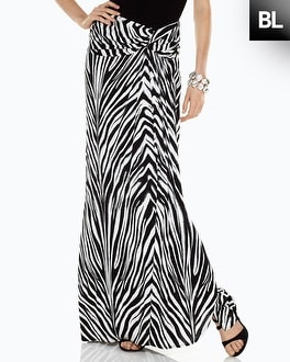 Black Label Zebra Printed Wrap Skirt