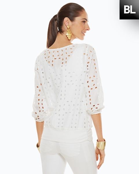 Geometric Cut Out Top