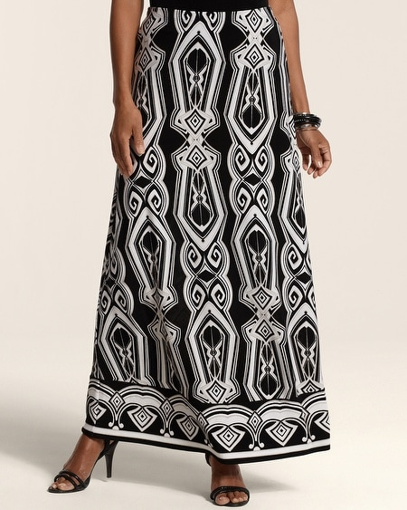 Tribal Collage Maxi Skirt