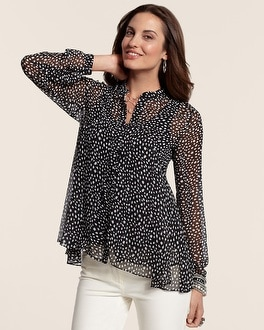 Mixed Dot Estelle Shirt