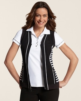 Zenergy Golf Stripe Detail Zip Vest