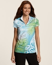 Zenergy Golf Butterfly Print Top