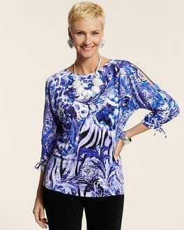 Travelers Classic Watercolor Animal Lindsay Top