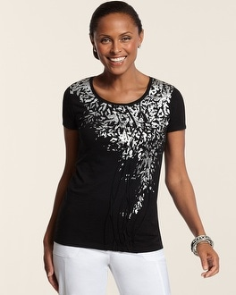 Zenergy Tia Textured Foil Tee
