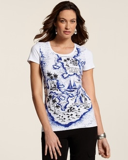 Zenergy Isla Island Map Print Tee