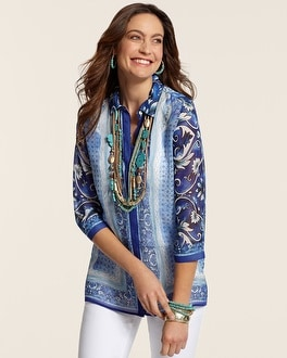 Vivid Blues Penelope Shirt