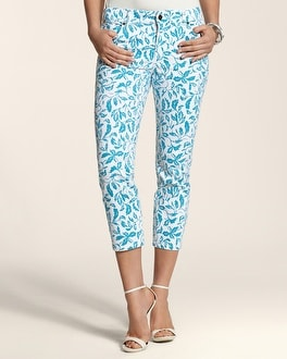 So Slimming By Chico's Vine Print Crop