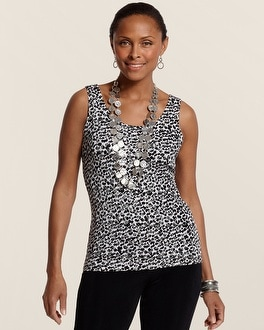 Travelers Classic Snow Leopard Contemporary Tank