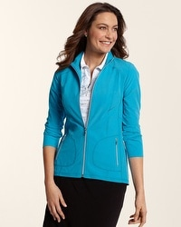 Zenergy Golf Solid Zip Caped Jacket