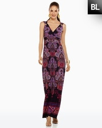 Black Label Paisley Printed Dress