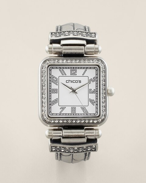 Silver Ox Large Cuff Watch