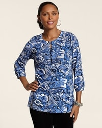 Travelers Collection Floral Scroll Layla Top