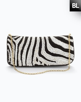 Black Label Zebra Clutch