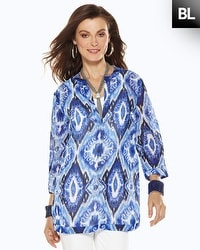 Black Label Ikat Printed Tunic