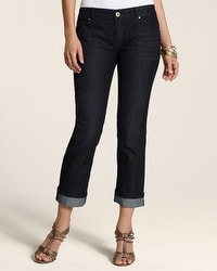Platinum Denim Dark Indigo Fashion Cuff Crop