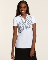 Zenergy Golf Placed Embellished Mock Top