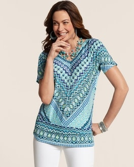 Mitered Geo Karissa Top