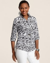 Effortless Frenzy Floral Gabrielle Shirt