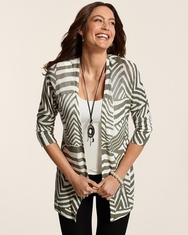 Graphic Waves Daniella Cardigan