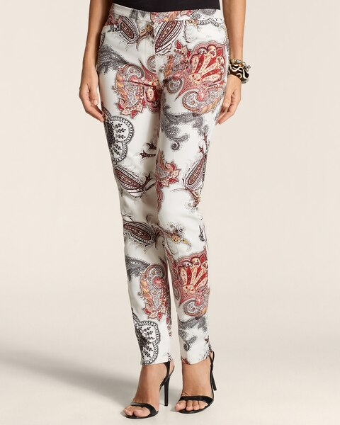 Smooth Lotus Stamp Ankle Pants
