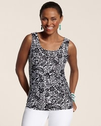 Stamped Lace Contemporary Tank