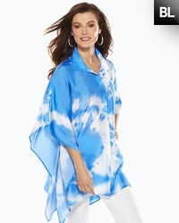 Black Label Tie-Dye Printed Poncho