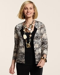 Travelers Collection Animal Collage Ruffle Jacket