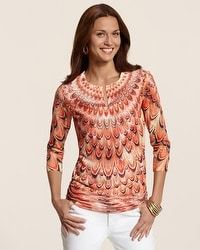 Spiral Bound Ruched Sansia Top