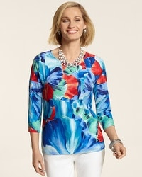 Watercolor Floral Aria Top