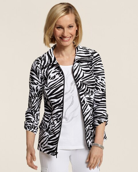 Neema Animal Print Jacket