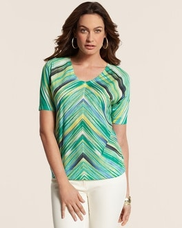 Up Stripes Mitered Mila Top
